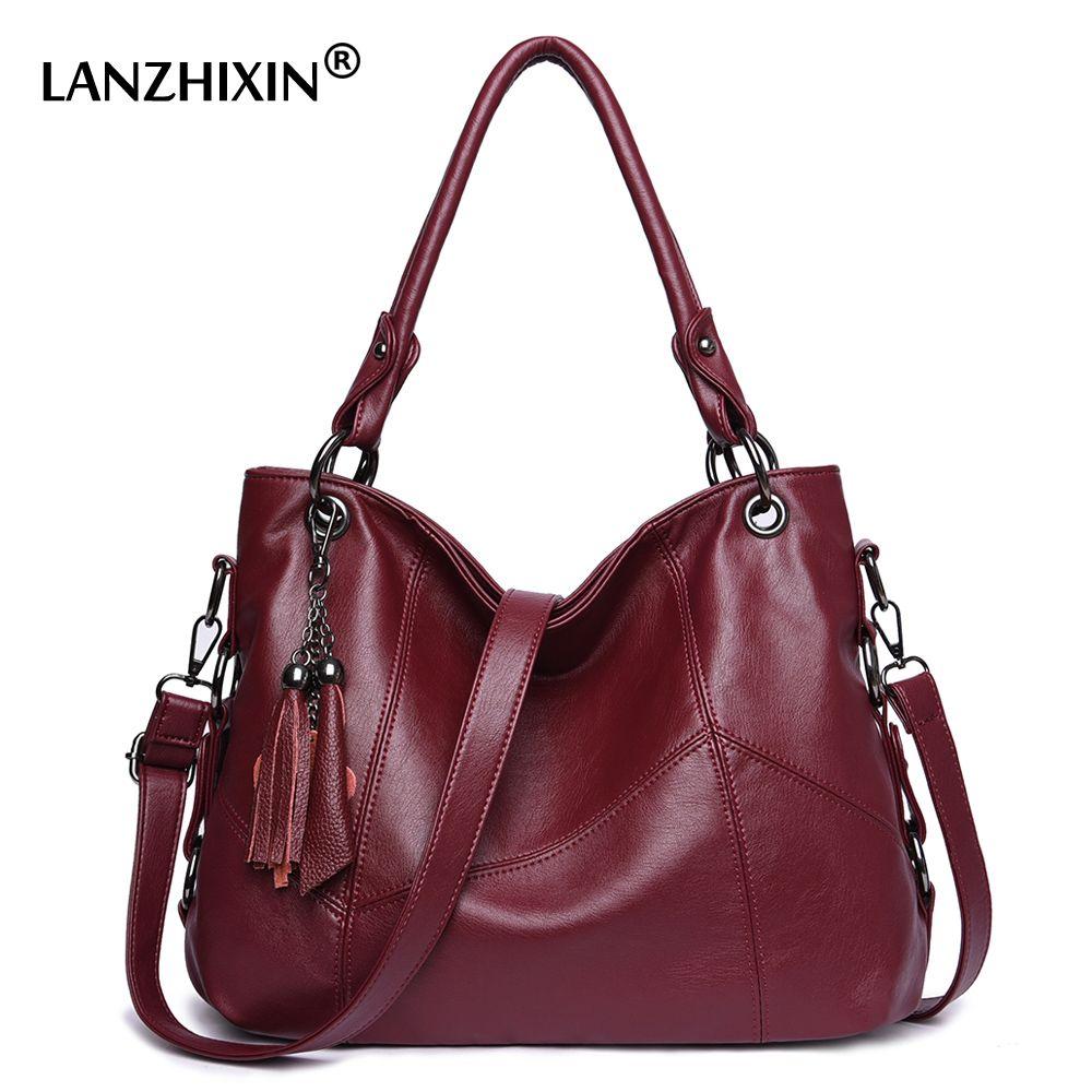 Lanzhixin Umhängetaschen Für Frauen Leder Handtaschen Frauen Messenger Taschen Damen Designer Schulter Taschen Tote Top-griff Taschen 819 s