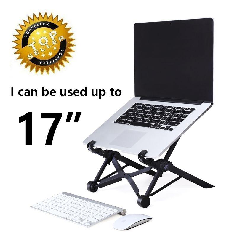 Support d'ordinateur portable pliable ergonomique table d'ordinateur portable portable portable refroidisseur support de refroidissement pour ordinateur portable