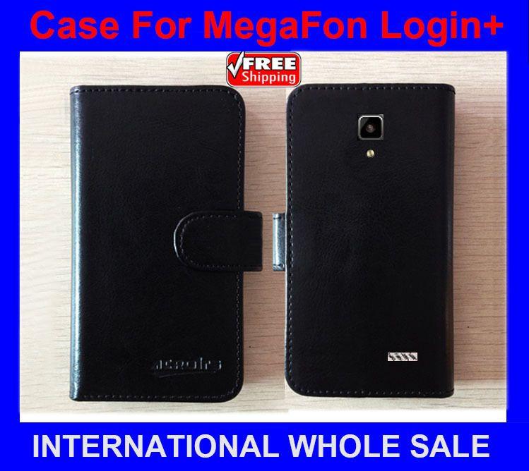 Hot! MegaFon Login+ Case Phone Factory Price Flip Leather Original Case Exclusive Cover For MegaFon Login Plus Case tracking