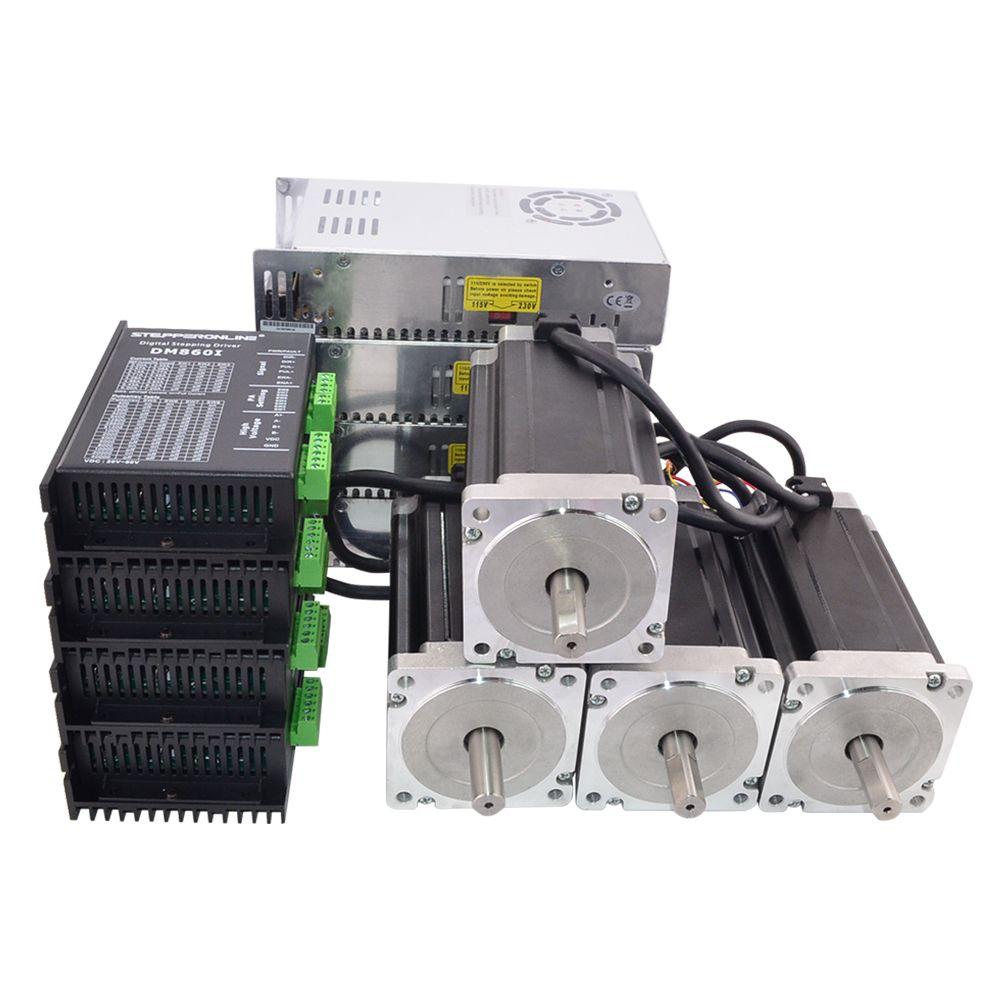 4 achsen CNC Router Kit 13.0Nm (1841oz. in) Nema 34 Stepper Motor & Fahrer