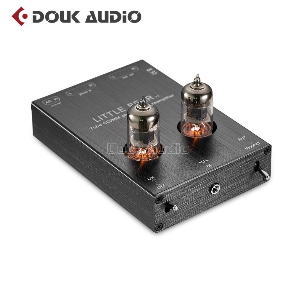 2018 Latest Little Bear T7 Hi-Fi 6J1 Valve Tube Phono Stage AUX & MM RIAA Turntable Phonograph Stereo Tube Pre-Amplifier