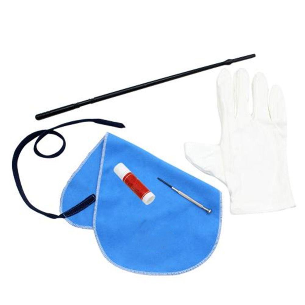 Professionelle Flöte Zubehör Flöte Reinigung Kit Set mit Reinigungstuch Stick Cork Grease Schraubendreher Handschuhe