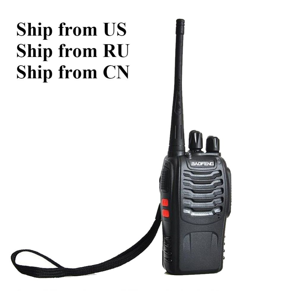 Expédition depuis RU/US! 2 pièces Baofeng bf-888s bidirectionnel Radio double bande 5 W poche Pofung bf-888s 400-470 MHz UHF talkie-walkie