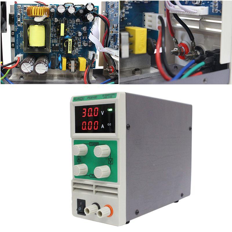 KUAIQU mini Adjustable DC Power Supply,laboratory Power Supply Digital Variable Voltage regulator0-30V/0-10A PS3010D