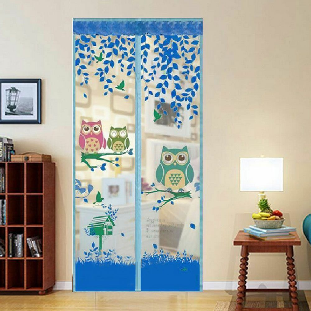 2017 hot Magic Insect Door Screen Stickers Anti Mosquito Magnetic Curtain Automatic Closing Door Screen Monkey Style Print