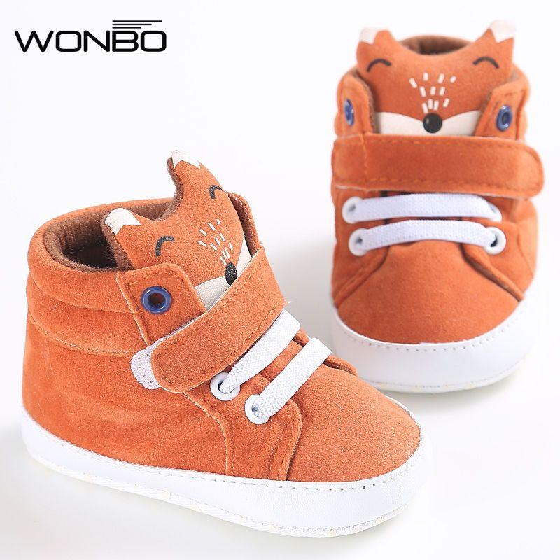 winter baby shoes Cotton Cloth kids Girl Boys Fox High Help first walker Canvas Sneaker Anti-slip Soft Sole Toddler footwear