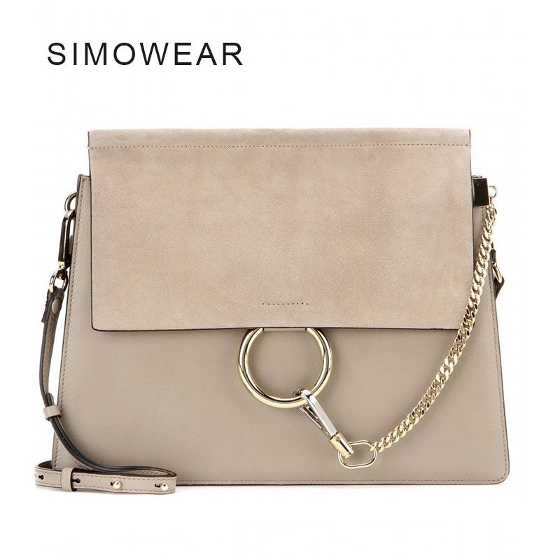 2016 Hot Sale Popular Fashion Brand Design Women Genuine Leather Cloe Bag High Quality Real Cowskin Shoulder Bag Chain Organ Bag