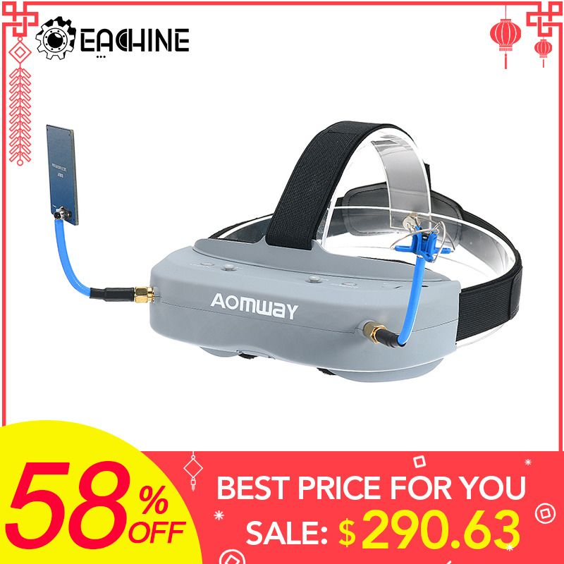 Aomway Commander Goggles V1 2D 3D 40CH 5.8G FPV Video Headset Support/With DVR Headtracker