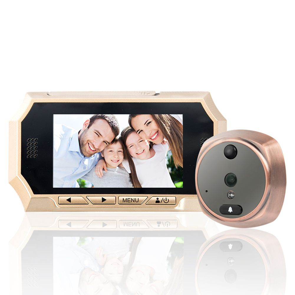 1 Set 4.3'' Touch Screen Door Camera,Phone Intercom System video peephole,LCD Digital Home Security Color IR Camera Door Eye