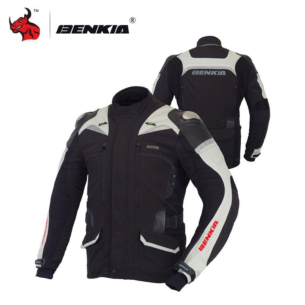 Benkia Мото куртка мотоциклетная светоотражающие куртка мотокроссе Куртка Мото зима ветрозащитная куртка и мотоцикл S-4XL