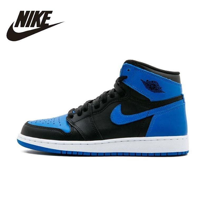 Nike Air Jordan 1 OG Retro Royal AJ1 Mens Basketball Schuhe Atmungsaktiv Outdoor Bequeme Turnschuhe Für Männer Schuhe #555088 -007