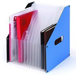 Comix A1489 Organ Folder File Holder A4,12compartment,size : 255*320*60mm 342 G Colour Black Blue , Random Color , Free Shipping