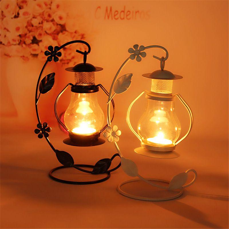 2 Couleurs De Mariage Cadeau En Métal Lanterne De Fer Bougie Maison de Titulaire Décoration Fer Lanternes Pour Bougies Bougie Lanterne Chandelier