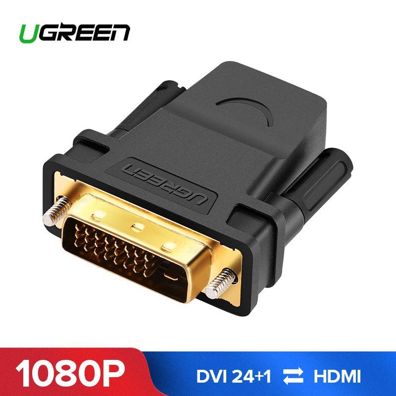 Ugreen HDMI auf DVI 24 + 1 Adapter Weiblichen zu Männlichen 1080 p HDTV Konverter DVI Stecker für PC PS3 projektor TV Box