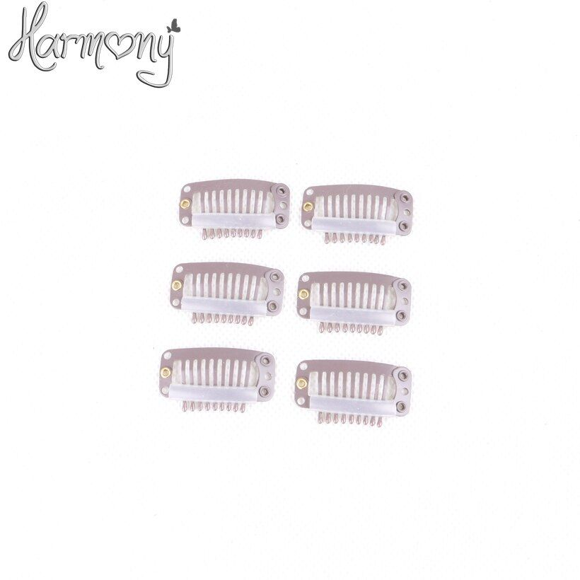 Harmony Stock hair clips for extensions/ 3.2cm with 6, 9 teeth 100pcs per pack 5 packs/lot