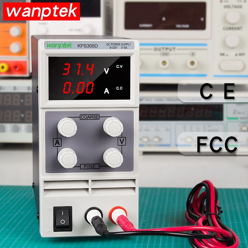 Wanptek 30V 10A LED Display Adjustable Switching dc power supply Laptop Repair Rework Lab power supply