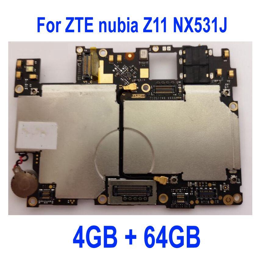 Original Getestet mainboard Für ZTE nubia Z11 NX531J motherboard bord karte gebühr chipsätze flex kabel teile, 4 GB + 64 GB