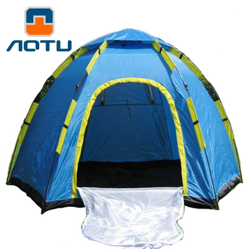3-4 Person Tent Waterproof Automatic Folding Tent Outdoor Hexagonal Rain At8878 Camping Tent