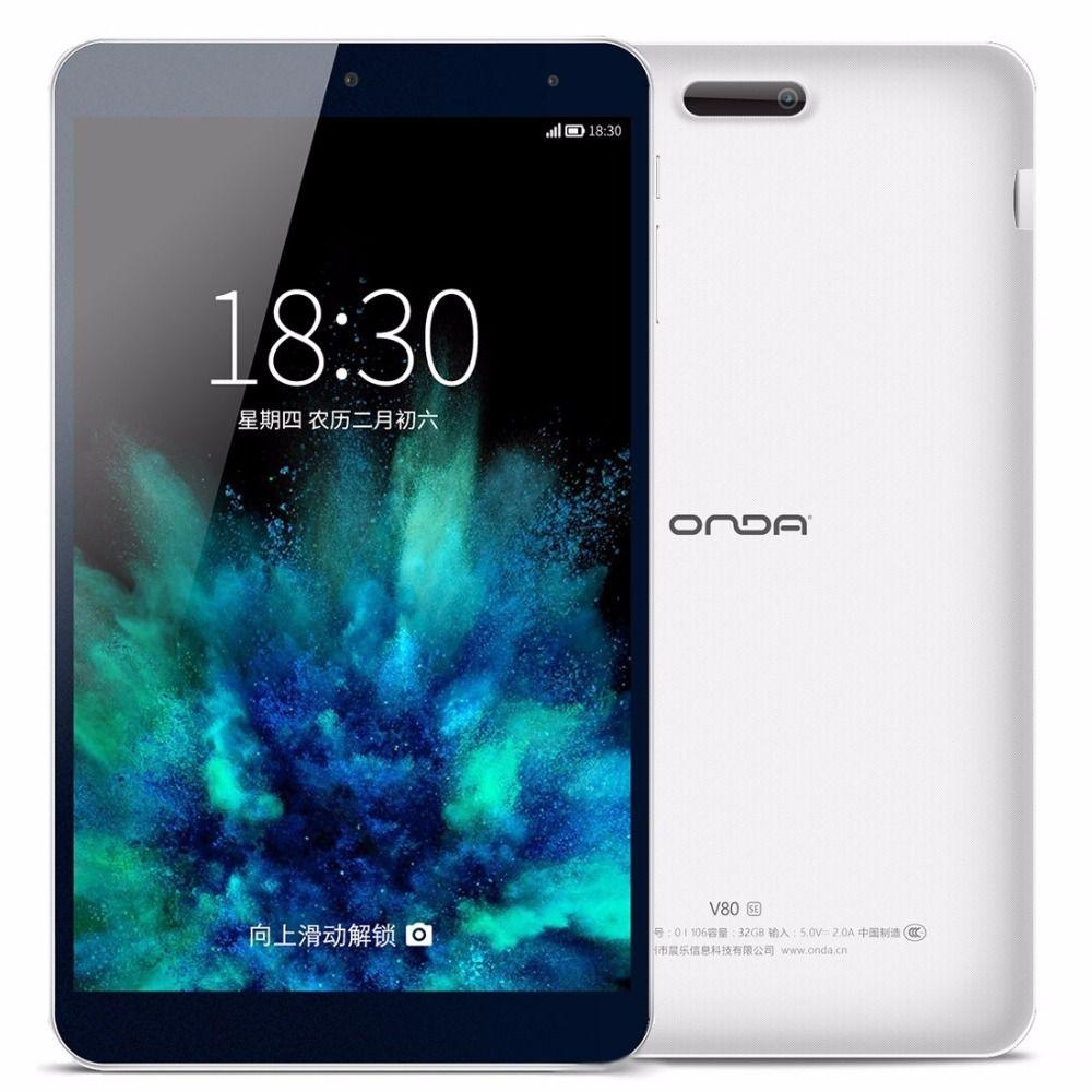Original ONDA V80 SÍ 8.0 pulgadas PC Tablets Allwinner A64 Quad-Core 64-bit 1.83 GHz Onda ROM 2.0 Android 5.1 OS ROM 32 GB RAM 2 GB OTG