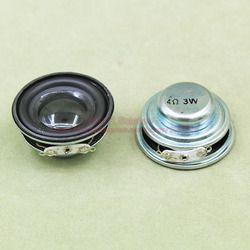 2 Pcs 4 Ohm 3 W Loudspeaker 40 Mm Speaker 23 Mm Magnetik Internal 16 Mm Voice Coil Double Magnet pu Edge N45 Magnet Neodymium
