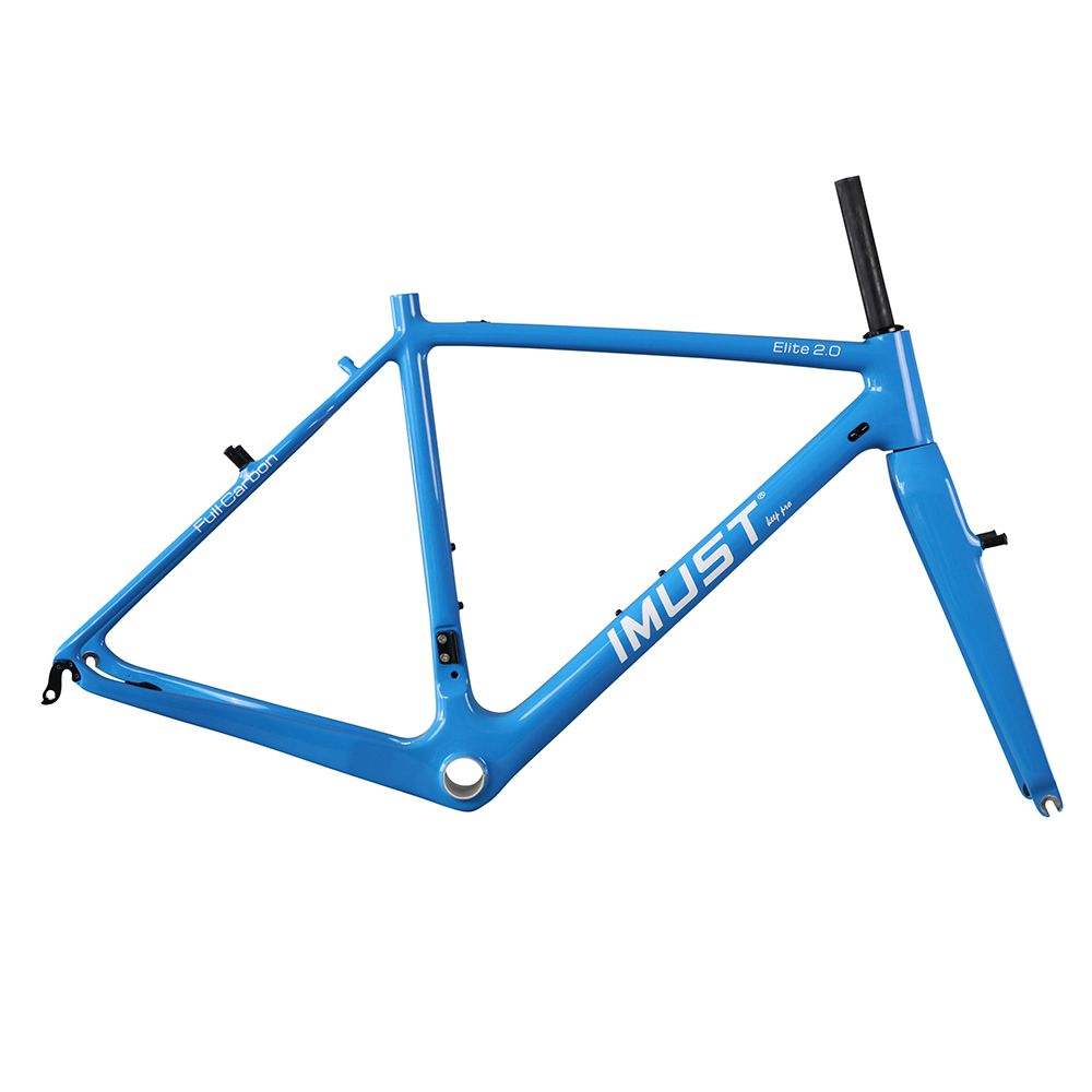 Elite 2.0 carbon cyclocross Frames tapered head tube v brake bicycle Chinese carbon frames BB86 48 50 52 54 56 58cm
