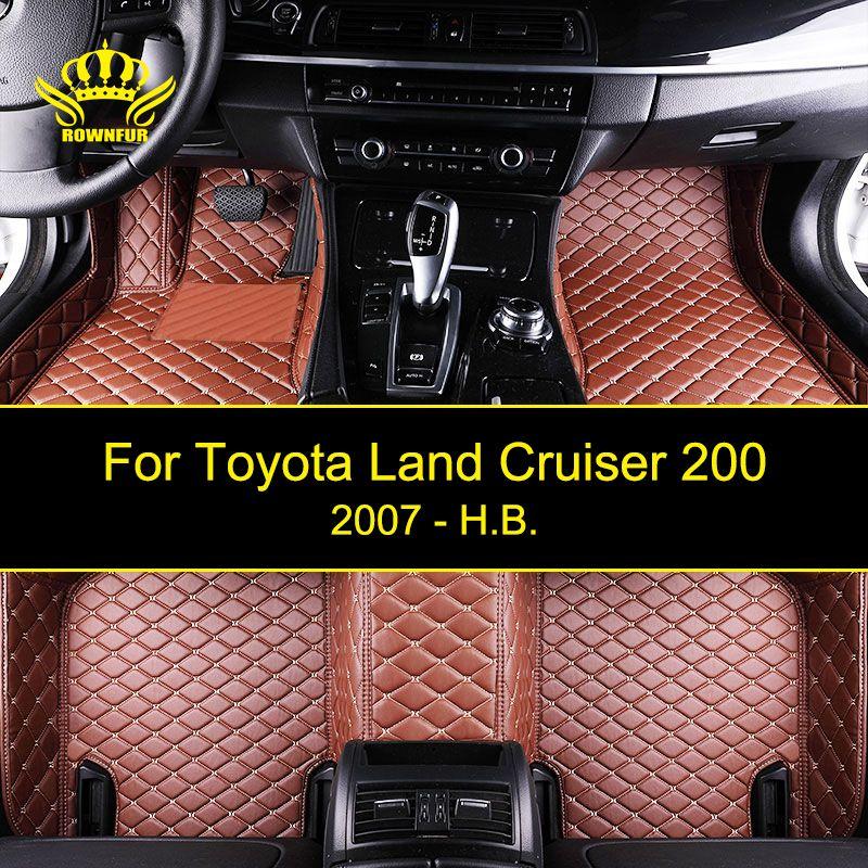 Car Floor Mats For Toyota Land Cruiser 200 Series Custom Fit Most Cars Artificial Leather Carpet Mats Protect Interior Car Mats