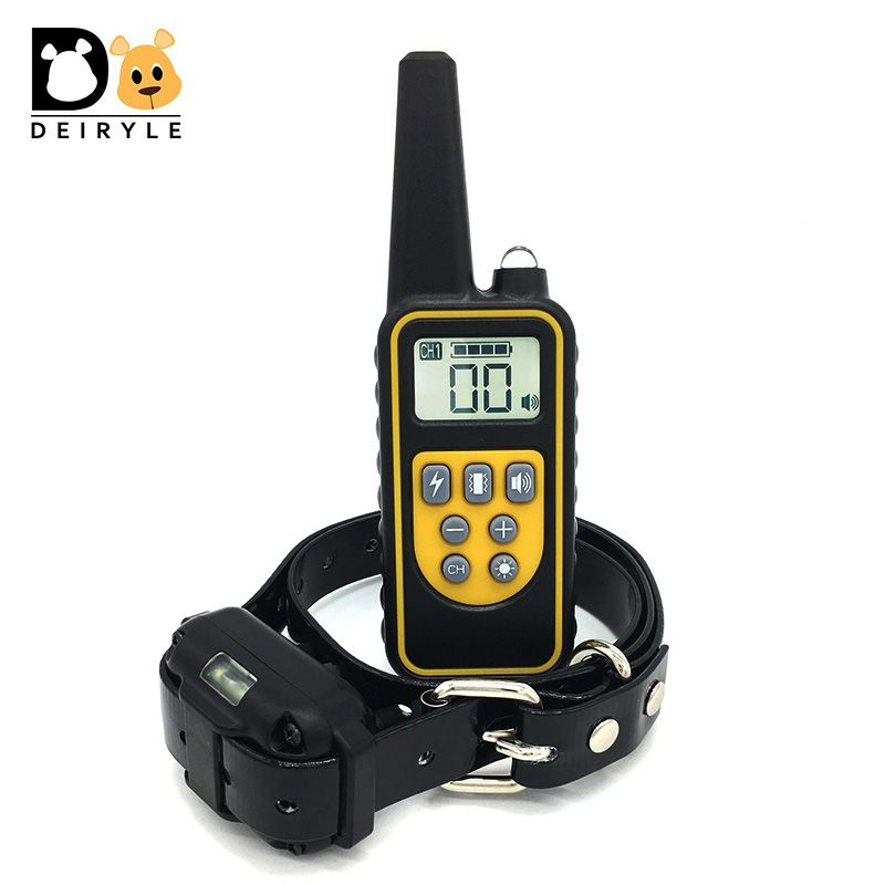 DEIRYLE 800m Remote Dog Training Collar Waterproof,Electric Shock Collar Dog Training With Vibration/Shock/ Tone