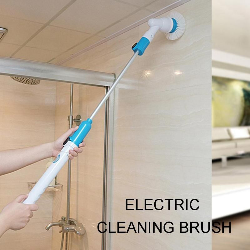 Turbo Scrub Electric Cleaning Brush Wireless Charging Adjustable Waterproof Cleaner for Bathroom Kitchen Cleaning Tool