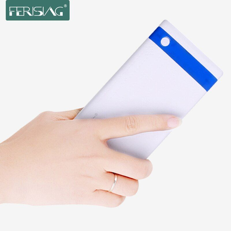 FERISING Ultra-thin Power Bank 10000mAh Dual USB External Pover Polymer China Battery Fast Charger Powerbank with LED Display
