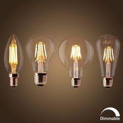 LED Filament Bulb E27 Retro Edison Lamp 220V E14 Vintage Candle Light Dimmable Globe Ampoule Lighting COB Home Decor