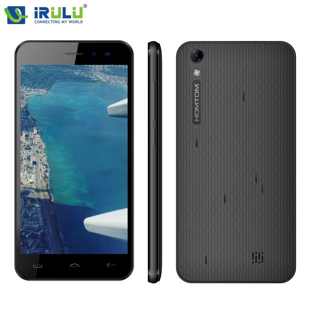 IRULU HOMTOM HT16 Smart Mobile Téléphone 5.0 pouce 1280x720HD MT6580 1.3 GHz Android 6.0 Quad Core 1 GB + 8 GB 8MP Haute-performance Cam