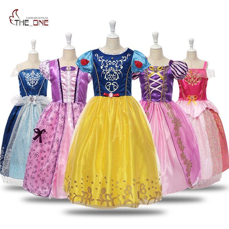 MUABABY filles blanche neige habiller enfants cendrillon belle au bois dormant raiponce Sofia princesse Costume fille fête Cosplay robes