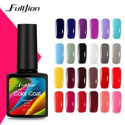 Fulljion 7.5 ML Couleur Série Nail Gel Polonais Top Coat Base Long Lasting Shimmer Soak Off Nail Art Gel Vernis Manucure Gelpolish