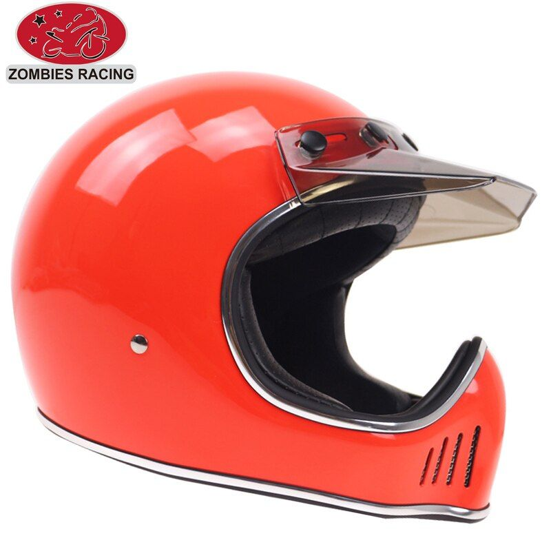 Helmet with Detachable Visor DOT ECE approved Vintage motorbike helmet concept helmet for retro motor