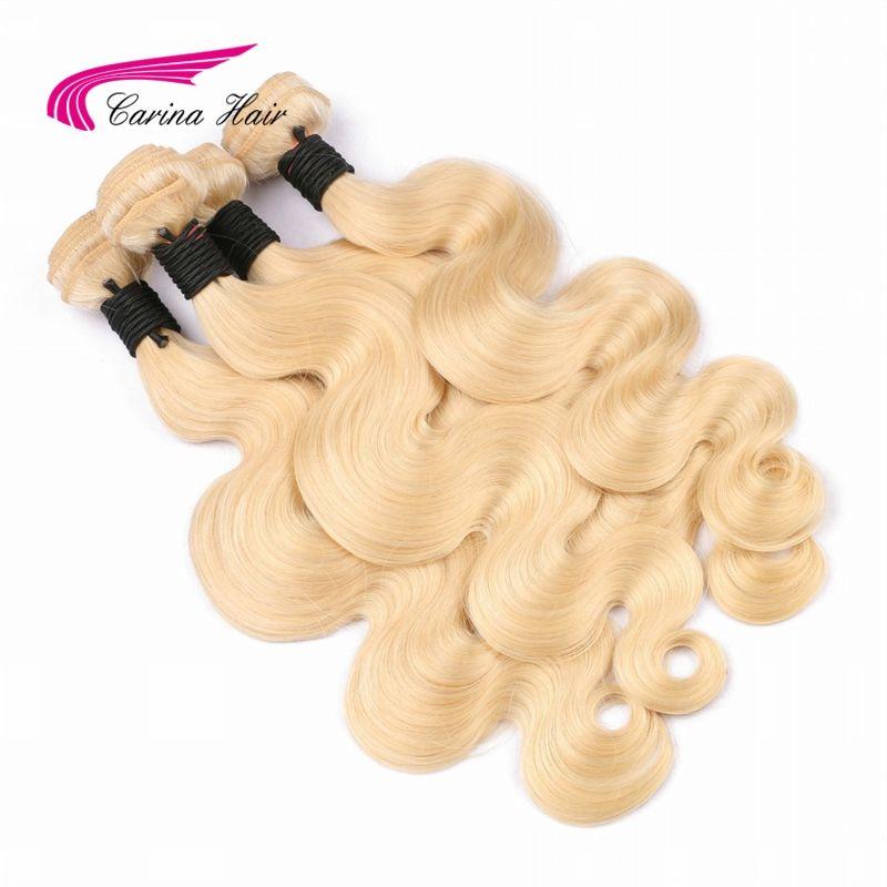 Carina Cheveux Blonds Brésilien Remy de Cheveux Humains Bundles 1 pcs Pur 613 Couleur Vague de Corps Cheveux Trame 8 pouce- 28 pouce Cheveux Extensions