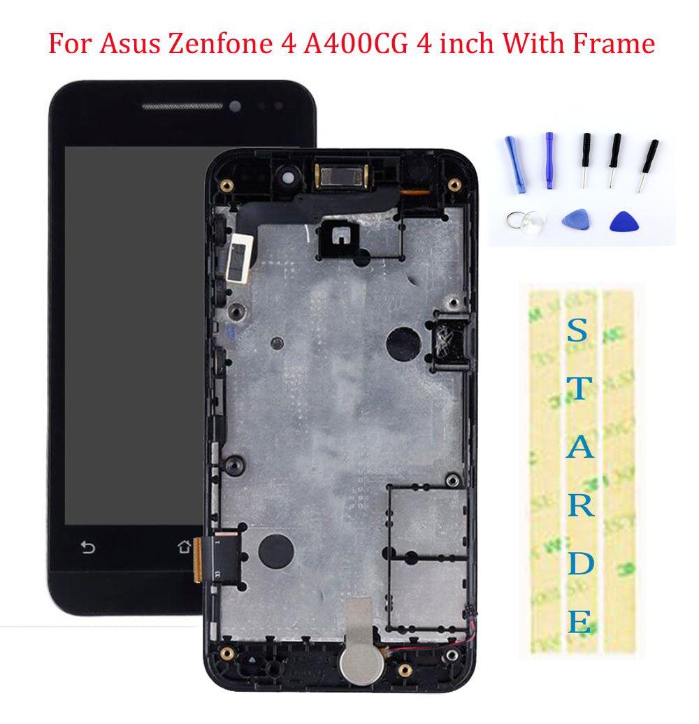 STARDE LCD pour Asus Zenfone 4 A400CG LCD écran tactile numériseur assemblée avec cadre 4