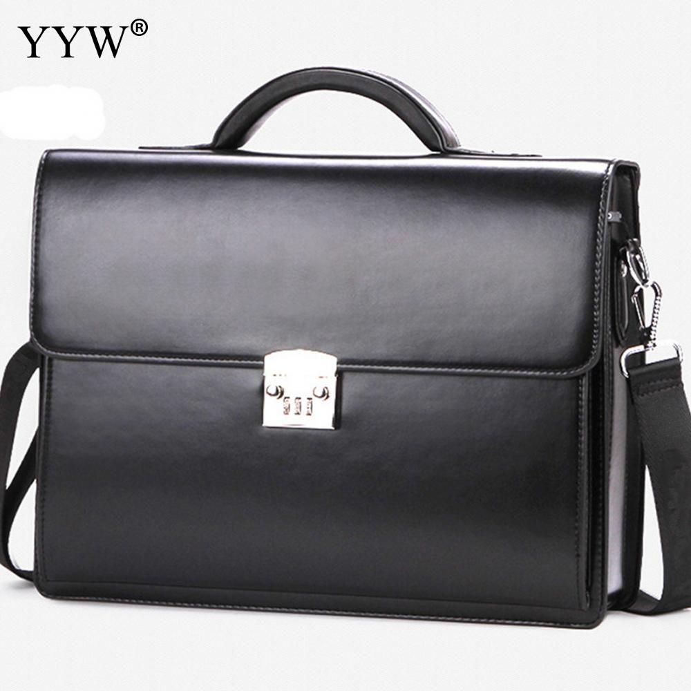 Business Männlichen Tasche männer Executive Aktentasche Schwarz Portfolio Tote Taschen für Männer Synthetische Leder Handtasche EIN Fall für Dokumente