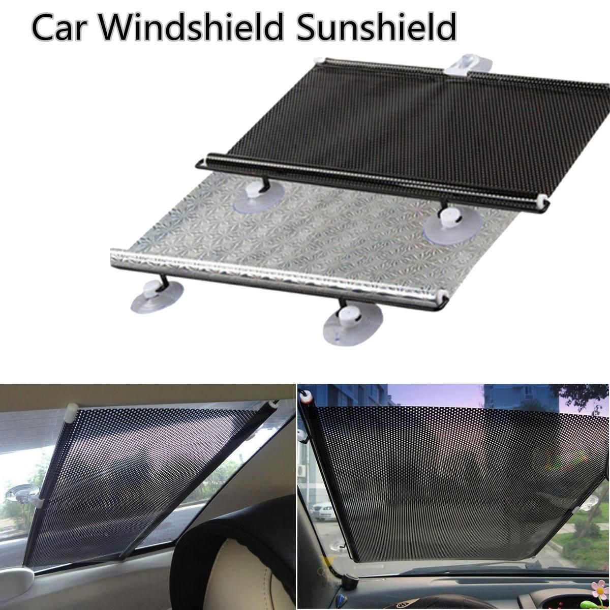 Big Size Roller Blinds Auto Car Retractable Curtain Window Windshield Visor Sunshield Front Rear Side Sun Shade Shield Exterior