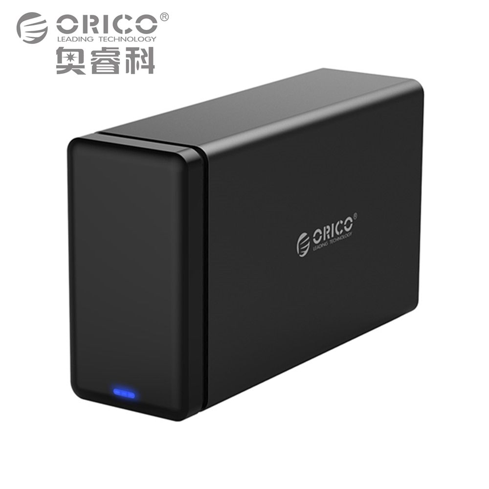 ORICO 2 Bay Aluminum Hard Drive HDD Dock Enclosure USB3.0 to SATA3.0 3.5 in HDD Case Support UASP 12V4A Power MAX 20TB Capacity