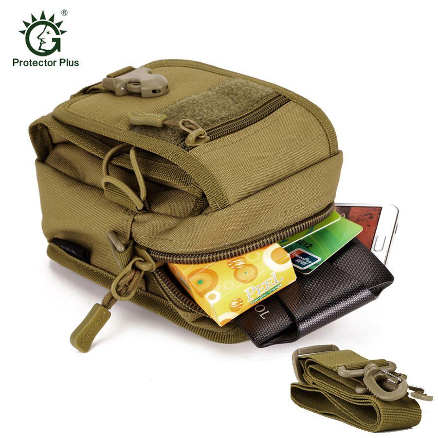 Sport de plein air Camousflage course taille sac Molle militaire tactique taille Fanny sac à bandoulière pour 5.5 pouces téléphone Mobile