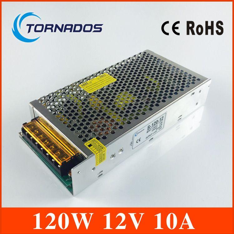 Haute qualité commutateur de courant LED alimentation LED 12 V 10A 120 W lumière LED affichage de bande livraison gratuite chine post