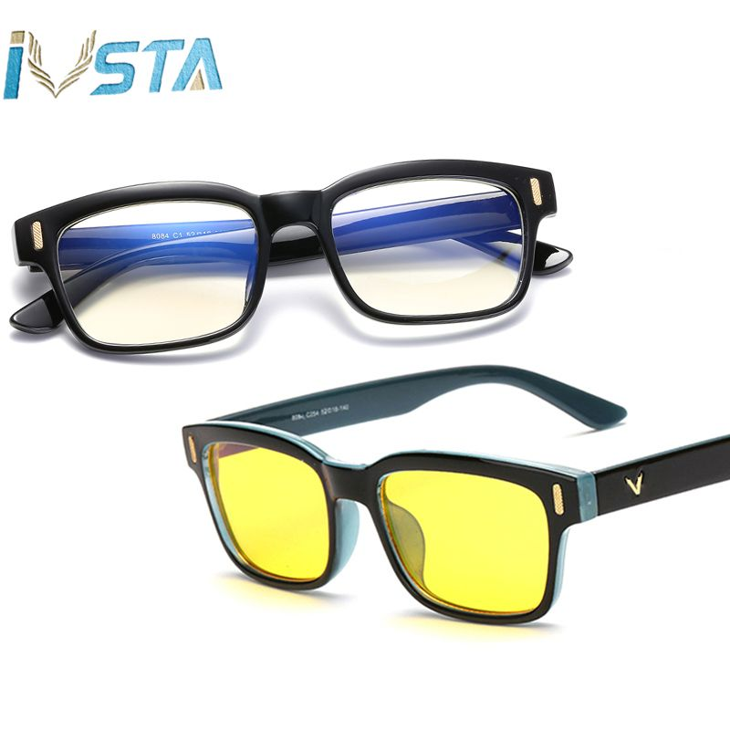 IVSTA Computer Glasses Anti Blue Rays Gaming Glasses Women Men Myopia Blue Light Blocking Lenses Optical Frame Prescription