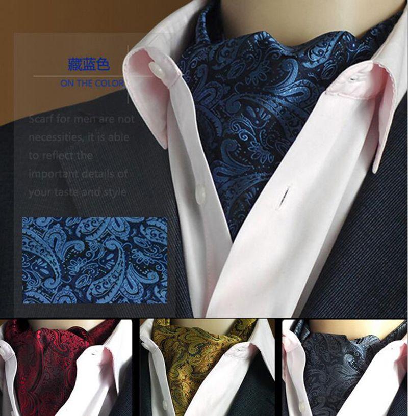 GUSLESON qualité 19 Styles mode luxe Duplex soie impression hommes écharpe à pois écharpes costume angleterre Jacquard armure