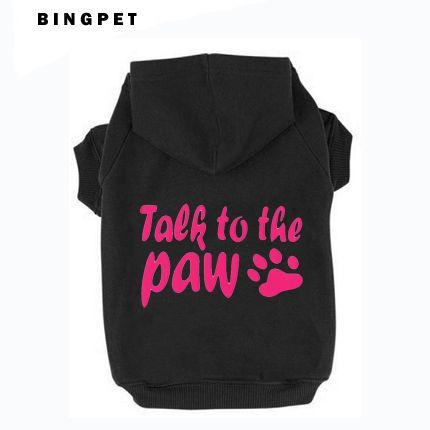 Vente en gros et livraison directe imprimé pet chien polaire sweat à capuche en coton