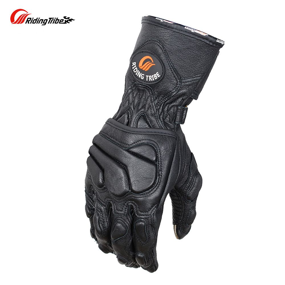 Riding Tribe Goatskin Genuine Leather Motorcycle Gloves Winter Protection Motorcyclist Motorbike Rider Moto Racing Guante MCS-36