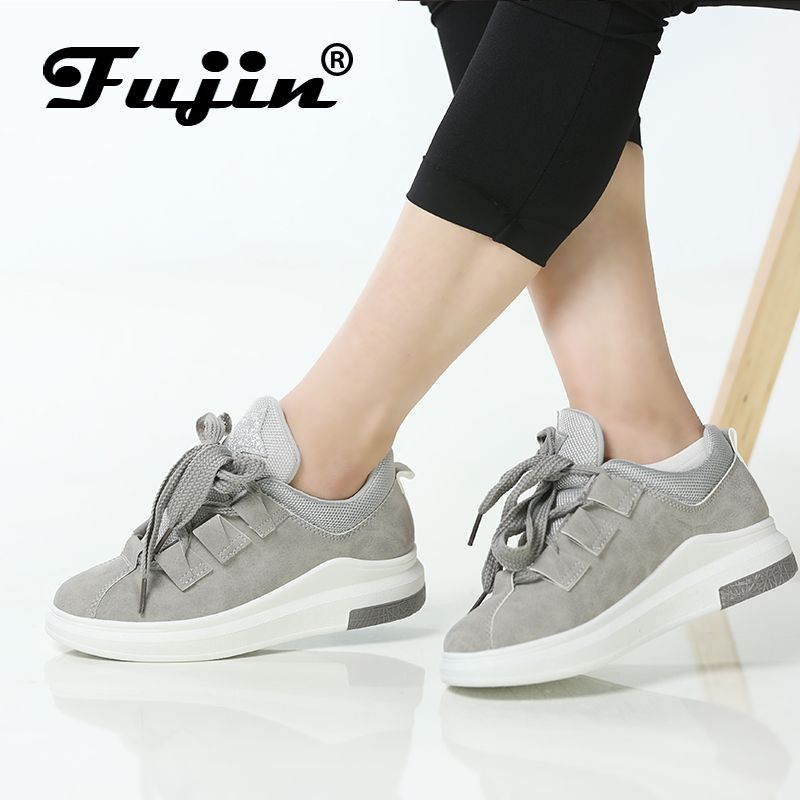 Fujin Brand 2018 ladies shoes platform shoes sneakers women autumn shoes for women flats lace up breathable sport casual