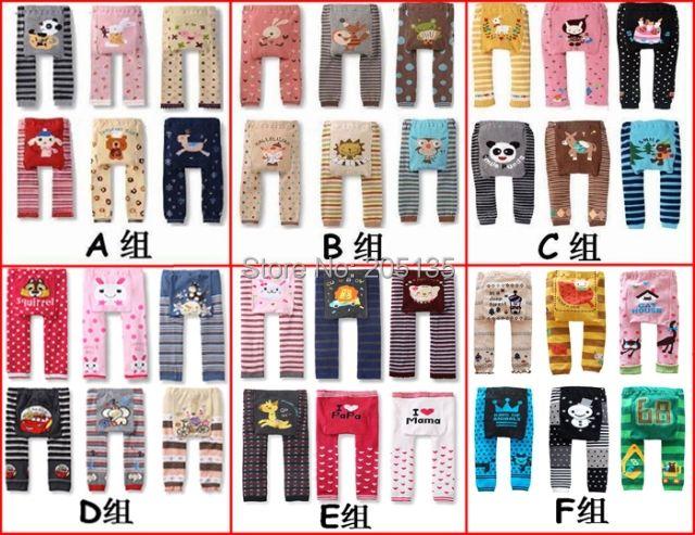 Ymlbid 6 шт./лот Одежда для малышей Дети PP Штаны с рисунком для малышей Детские Колготки длинные штаны теплые Буша Леггинсы для женщин 0-24 м