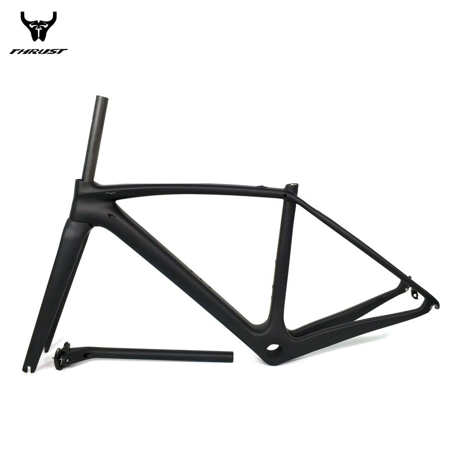 THRUST Road Bicycle Bike Carbon Frame XXS XS S M L Carbon Road Frame China BSA BB30 PF30 T1000 Carbon Bike Frame 2 year Warranty