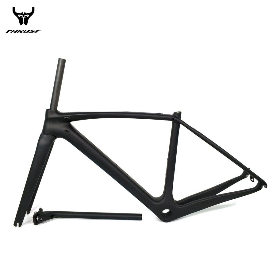 THRUST Road Bicycle Bike Carbon Frame XXS XS S M L Carbon Road Frame China BSA BB30 PF30 T1000 Carbon Bike Frame 2 year Warranty