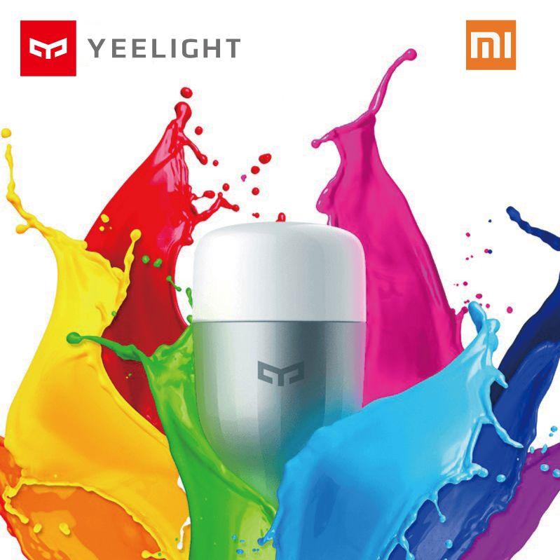 Original Xiaomi Yeelight Blue II LED Smart Bulb Colourful ( Color )E27 9W 600 Lumens Mi Light Smart Phone WiFi Remote Control